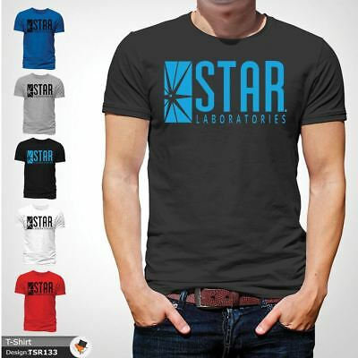 STAR Laboratories T Shirt Top The Flash S.T.A.R. Labs  GIFT T-SHIRTS Dark Gray !