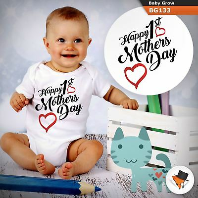 Happy 1St Mother's Day Mum Mummy Babygrow Baby Grow  All Sizes 1 ^