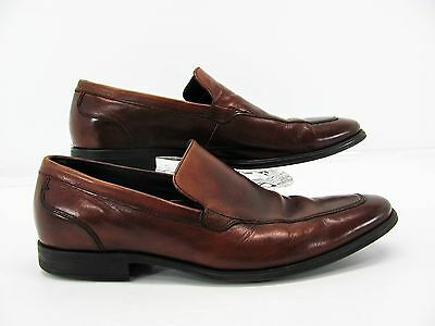 41f23855888 COLE HAAN AIR Men Brown Leather Moc Apron Loafer Dress Shoe 9.5M Pre Owned  YH