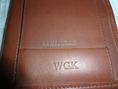 """Levenger """"The Pocket Briefcase""""- full grain leather-Preowned-Free Shipping"""
