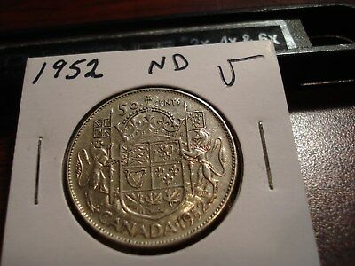 1952 ND - Canada Silver Half Dollar - Canadian 50 cent coin