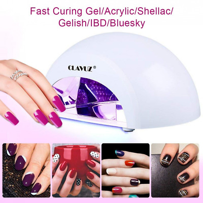 Gel LED Nail Lamp 12W Nail Dryer Curing Light with Top & Base Coat Portable