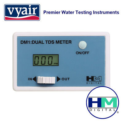 VYAIR HM Digital DM-1: In-Line Dual TDS Monitor with In and Out Electrode Probes