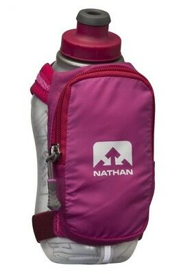 Nathan Sports Unisex Speedshot Plus Insulated, Pink / Hi-Viz Wihte. 12 Oz/355 ml