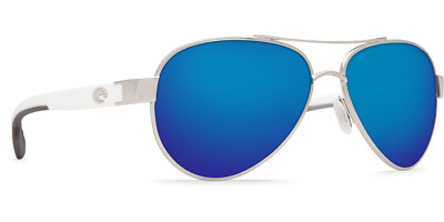 Costa Del Mar Loreto Sunglasses - LR 21 OBMP - Palladium(silver) w/ Blue Mirror