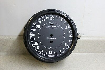 NOS 8 1/2 Inch  Elm Manufacturing Military Navy Plastic Clock Case w/ 24 Hr Dial