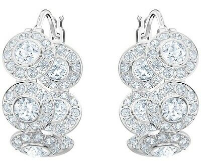 cfbd2959a37a8 Swarovski Crystal Angelic Pierced Earrings Hoop Cry 5418269.new In Box