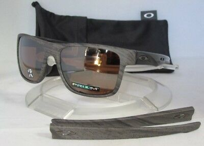 ca3f205402 OAKLEY POLARIZED CROSSRANGE SUNGLASSES Woodgrain   Prizm Tungsten Asian Fit  NEW