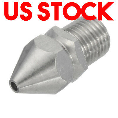 1/4''M Pressure Washer Drain Sewer Cleaning Pipe Jetter Rotary Nozzle 4 Jet US