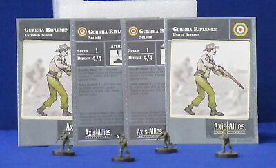 Axis /& Allies Contested Skies Veteran SMLE Riflemen with card 1//45
