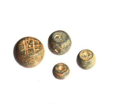 Byzantine commercial weights Semuncia and 2, 1, 0.5 Sextula 7-10 century
