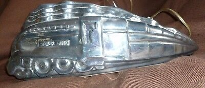 vintage lamp train locomotive sarsaparilla silver link 1993 art deco style