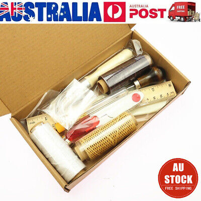23PCS Leather Craft Punch Tools Stitching Carving Working Saddle Sewing DIY Kits