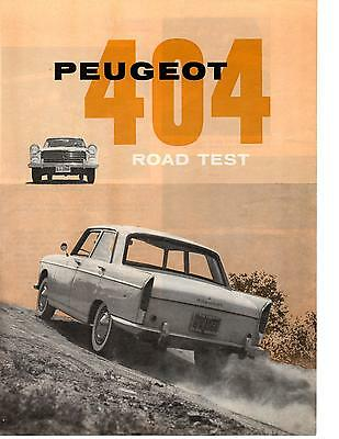 1961 Peugeot 404  ~  Rare 4-Page Road Test / Article / Ad