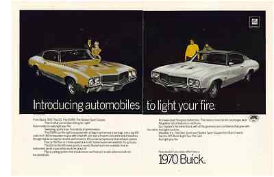 1970 Buick Gs 455 Stage I 455/360-Hp  ~  Original 2-Page Print Ad