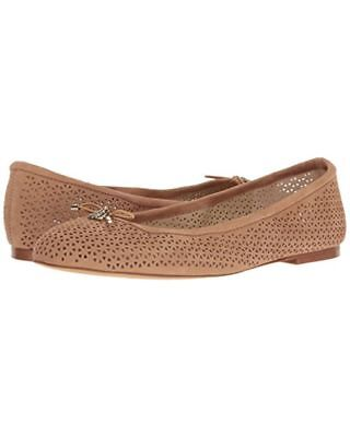 58cc755b473 SAM EDELMAN Felicia 2 Suede Ballet Flats Shoes Golden Camel Tan Brown 9.5  NEW
