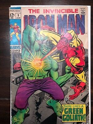 "The Invincible Iron Man #9 ""There Lives a Green Goliath!"" Awesome Fine+!!!"