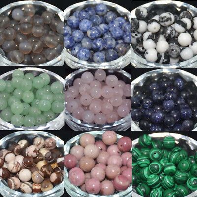 Natural Stone Gemstone Round Spacer Loose Beads Wholesale 4MM 6MM 8MM 10MM