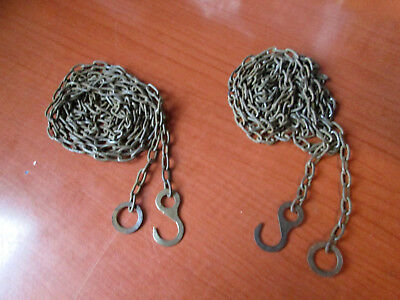 """Lot of 2 Vintage Cuckoo Clock Weight Chains 58""""   44 LPF.   (243G)"""