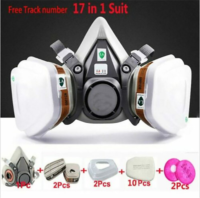 17 in 1 Suit Painting Spraying Safety For 3M6200 Half Face Gas Mask Respirator