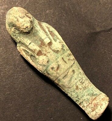 Ancient Egyptian New Kingdom Mummy Amulet Blue Fieance Artifact Authentic