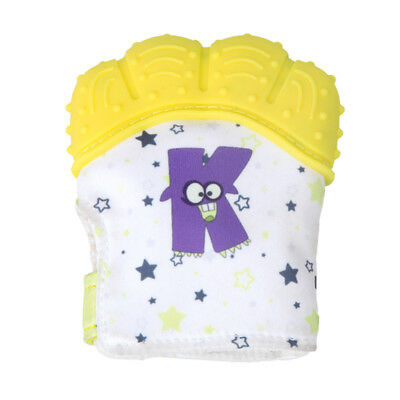 AU Infant Safety Eat Fingers Soft Gel Baby Teething Mittens teether Molar Gloves