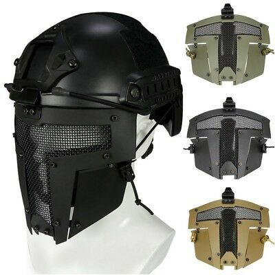 AU! Tactical Airsoft Metal Mesh Mask Half Face Guard Protective gear Sparta Mask