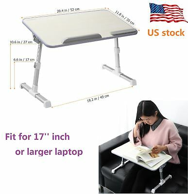 Pro 30° Adjustable Folding Laptop Table Lap Desk Bed Sofa Computer Tray Stand US