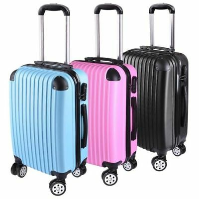 "20"" Cabin Luggage Suitcase Code Lock Hard Shell Home Travel Carry On Bag Trolley"