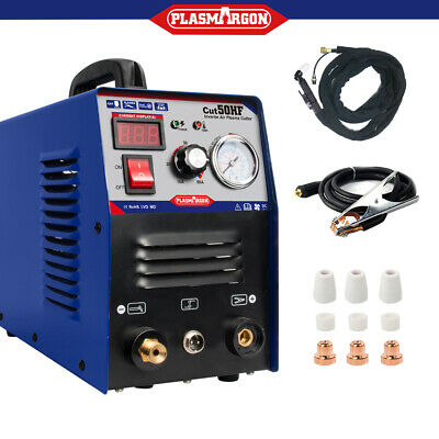 CUT50 Plasma Cutter 50A Inverter DIGITAL & Accessories 230V & Torches 1-12mm Cut