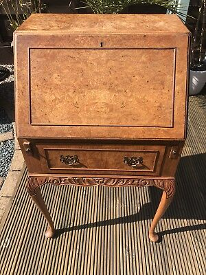 Antique Burr Maple Writing Bureau