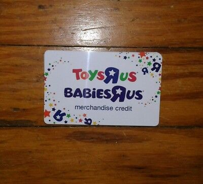 Toys R Us/Babies R Us Merchandise Credit Card Memorabilia Collectible (New)