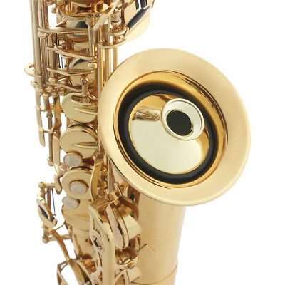 Professional Alto Saxophone Sax Mute Sound ABS Dampener Silencer Gold UK