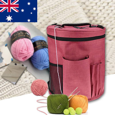 AU! Large Knitting Tote Bag Yarn Storage Bag for Organizer Crochet Knitting Yarn