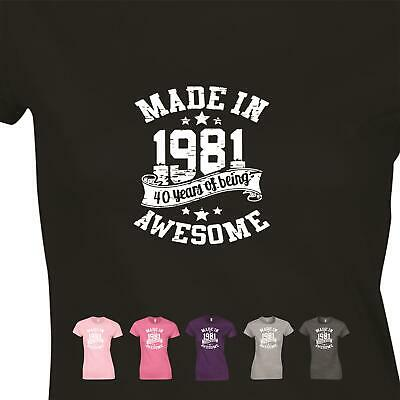 Awesome Made In 1979 Vintage Womens Present Ladies GIft 40th Birthday T shirt