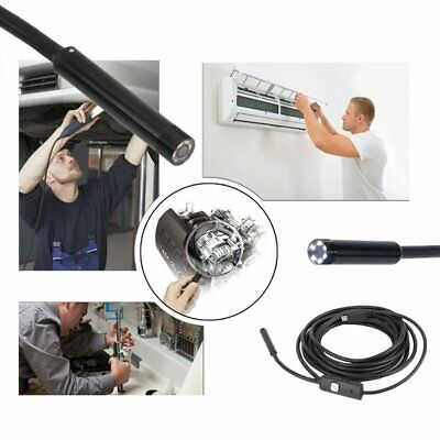 Waterproof 7mm 6LED Android Endoscope Borescope Snake Inspection Camera Scope