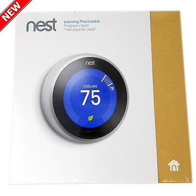 Nest T3007ES Learning Thermostat Easy  3rd Generation , Works with Alexa