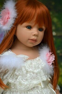 Masterpiece Dolls Dee Dee Red Wig, Fits up to 18 inch head