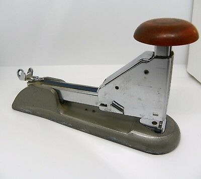 Vintage Bates H-30 Industrial Office Desk Stapler