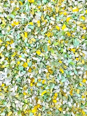 Mint Green Yellow White BIODEGRADABLE Paper WEDDING CONFETTI Throwing Flutterfal