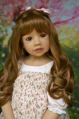 Masterpiece Dolls Wynona Brunette Wig, Fits Up To a 20-inch Head