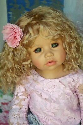 Masterpiece Dolls Cassi Blonde Wig, Fits Up To a 18-inch Head