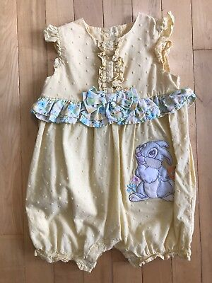 EUC The Disney Store Yellow Thumper Romper One-Piece Baby, Size 18-24 Months