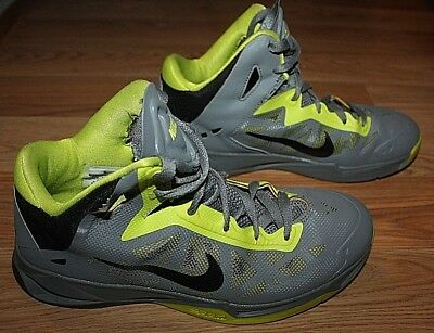 newest 19991 9a8c9 Mens NIKE ZOOM HYPERCHAOS Grey Volt Black Basketball Shoes 536841-006-Size  7.5!