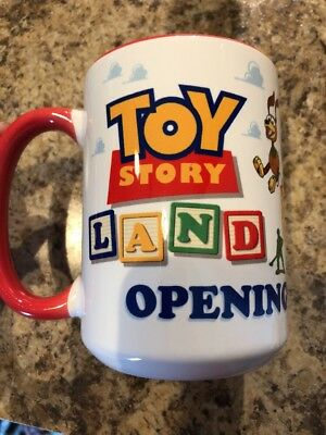 2018 Disney Parks Toy Story Land Coffee Cup Mug Ceramic OPENING DAY NEW