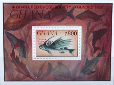 GHANA 1993 Block 229 S/S 1577 Red Croos Society Rotes Kreuz ovp Fauna Fish MNH