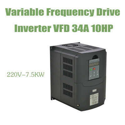 7.5Kw 220V Vfd Variable Frequency Drive Inverter 10Hp 34A
