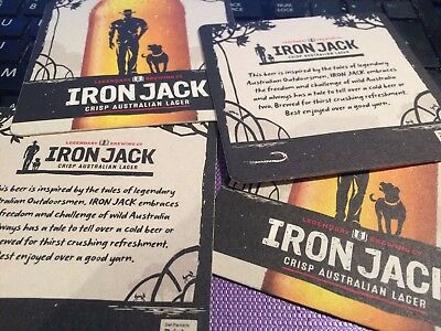 Iron Jack - Four Cardboard Beer Mats / Coasters