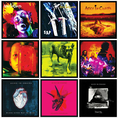 ALICE IN CHAINS 9 pack of album cover discography magnets rainier fog