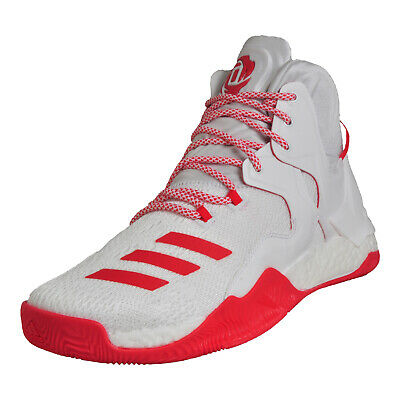 reputable site 65e3c f9ea7 Adidas Mens Derrick Rose D Rose 7 Boost Premium Basketball Trainers White